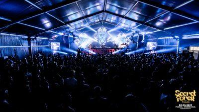 Secret forest festival tent